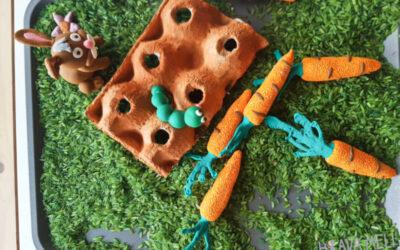 Jarní senzorické tvoření a hraní s dětmi