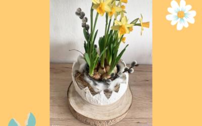 Květináč jako skořápka – kreativní tvoření na Velikonoce