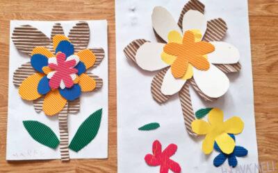 Květina z vlnitého papíru
