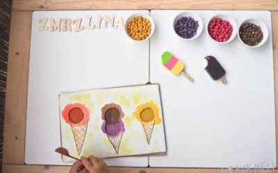 Letní senzorické kartonové tvoření – zmrzlina